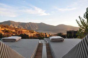 Paisaje en hotel de Valle de Guadalupe